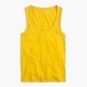 NWT mustard yellow jcrew tank size small